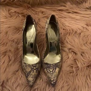 Pointy mutli color silk heels